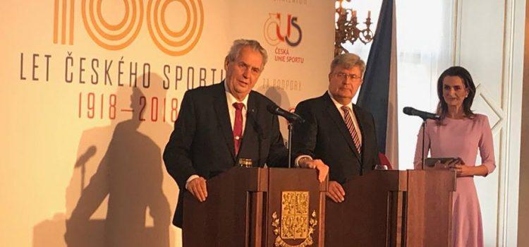 Jaromír Jágr a další sportovci poobědvali s prezidentem na Pražském hradě