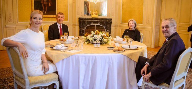 Prezident Zeman a premiér Babiš se sešli u novoročního oběda v Lánech