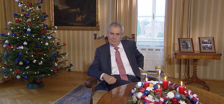 Prezident Zeman přednesl své šesté vánoční poselství, varoval před hlupáky a špionománií