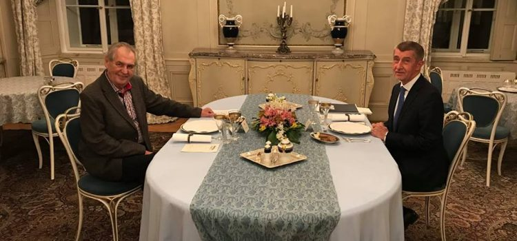 Prezident Zeman se sešel s premiérem Babišem, probírali kauzu Huawei
