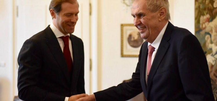 Prezident na Hradě přijal ruskou ministerskou delegaci, ocenil obchodní vztahy