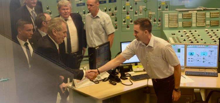 Prezident zakončil návštěvu Maďarska prohlídkou jaderné elektrárny Paks