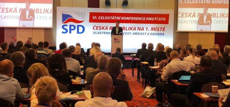 Hnutí SPD nepokládám za extremistické, ale radikální. Zeman poslal na sjezd SPD videopozdrav