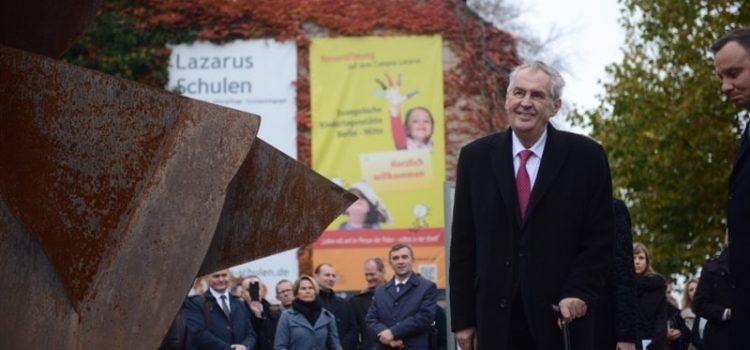 Prezident se v Německu zúčastnil oslav 30 let od pádu Berlínské zdi