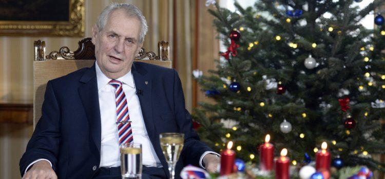 Prezident Zeman zahájí 16. prosince dovolenou, svátky stráví na zámku v Lánech