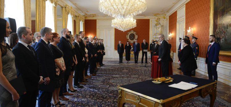 Prezident jmenoval 35 nových soudců, v proslovu vysvětlil milost pro Kajínka